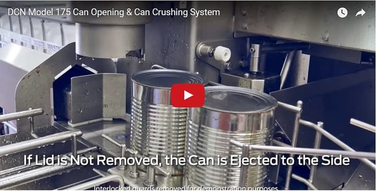 Can Opener and Can Crusher System