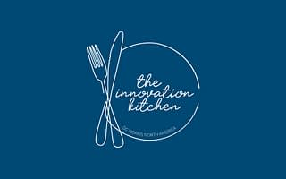 DC Norris North America_The Innovation Kitchen Logo on blue background