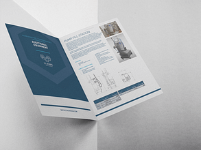 image of the DC Norris pump fill station brochure open against a grey background