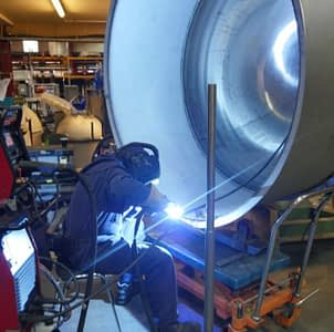 a kettle being manufactured by one of the skilled tradesman at DC Norris
