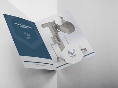 an image of the DC Norris North America Lifting & Discharging Equipment brochure against a grey background
